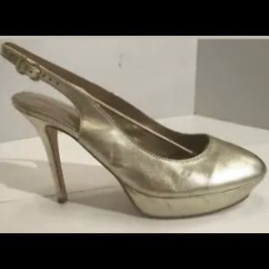 Pedro Miralles 40 Gold Slingbsck Round Toe Spain